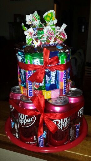 12 year old Boy's birthday candy cake