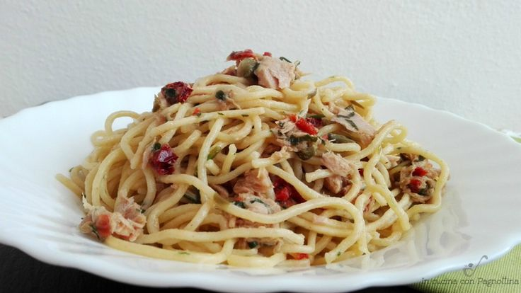 Spaghetti con tonno e capperi #philipsincucina #pastamaker