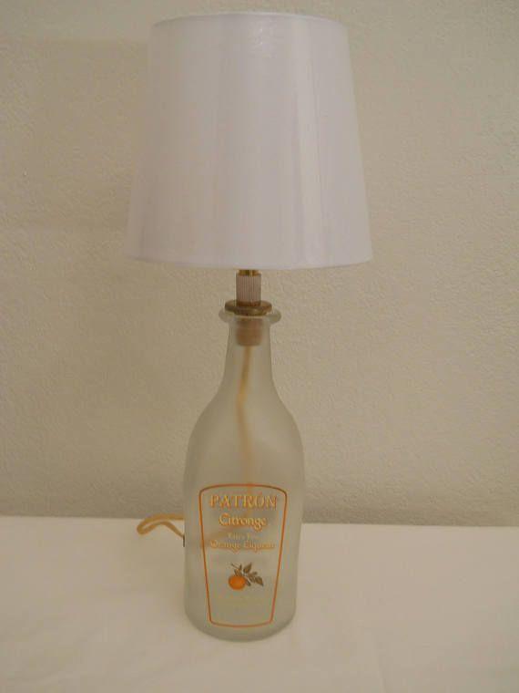 Patron Citonage Lamp / Upcycled Bottle Lamp / Liquor Bootle #LampUpcycle