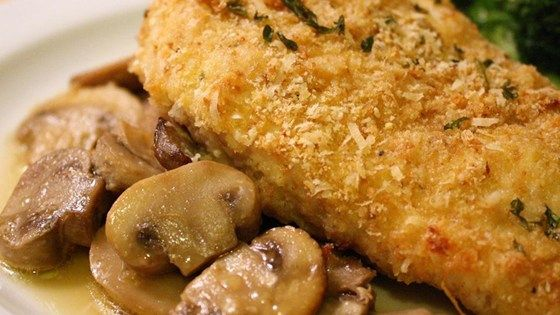 Delicious chicken coated in bread crumbs and Parmesan cheese. Sooo easy but your guests will never know how hard you didn't work!