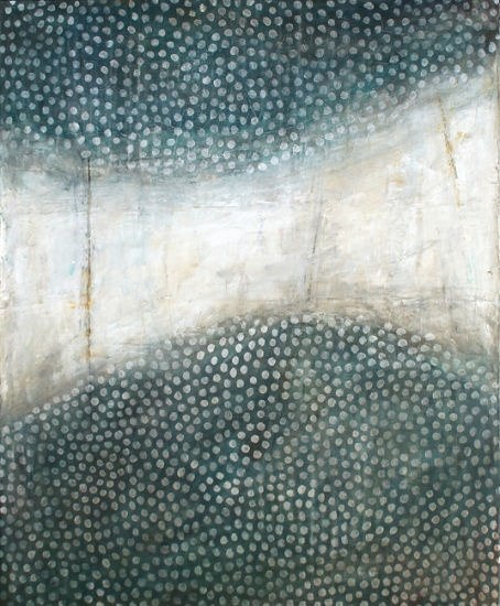 """La traverse, Karine Léger  Acrylique sur toile– 2012  30"""" x 36 """""""