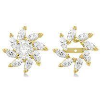 Marquise Earring Jackets in 14k Yellow Gold (0.16ct)
