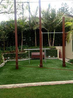 Backyard pull-up bars and rings.