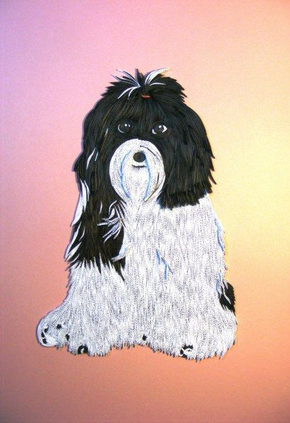 55 best images about quilling dogs on pinterest quilling for Big quilling designs