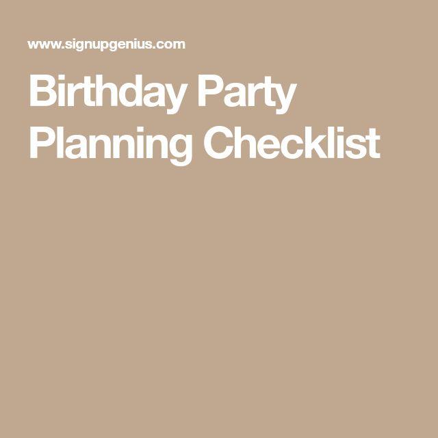 Best 25+ Party planning checklist ideas on Pinterest Party plan - birthday party planning checklist template