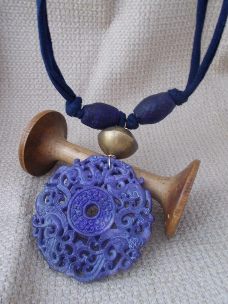 Chinese carved jade necklace, purple - on sale on Etsy - wadada