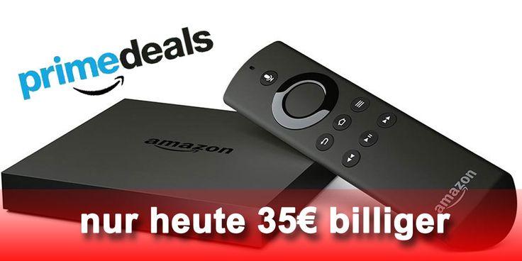 Fire TV heute billiger: neuer 4K Ultra HD Amazon Fire TV für 65 Euro! - https://apfeleimer.de/2016/04/fire-tv-billiger-neuer-4k-ultra-hd-amazon-fire-tv - Nur heute: neuer 4K Amazon Fire TV jetzt 35 Euro billiger erhältlich. Bei Amazon gibt es (nur) heute und ausschließlich für Amazon Prime Kunden die neue bzw. aktuelle Amazon Fire TV 4K Streaming Box für 64,99 Euro statt 99,99 Euro und damit 35 Euro günstiger als normalerweise. Im direkten Verg...