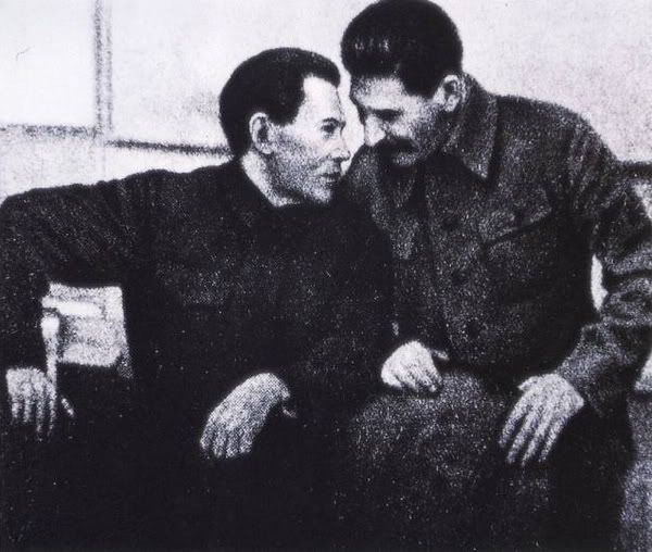 Stalin and Nikolai Yezhov, People's Commissar of Internal Affairs of the USSR