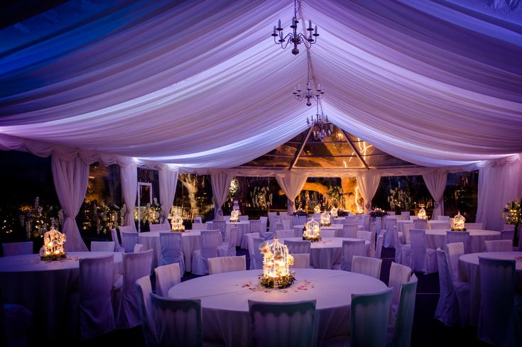 Inside The Marquee At Night Marquees Tents And All