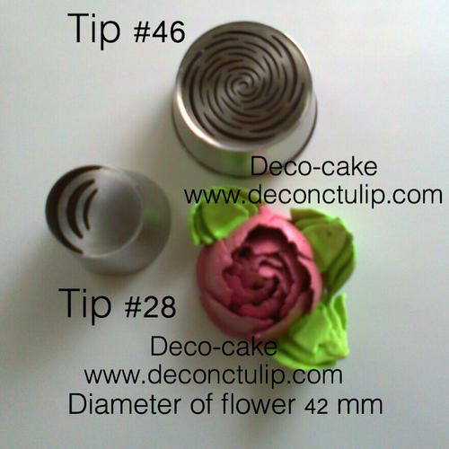 "ADC Deco-cake Online Shop     We are for those who consider the production of cakes and pastries real Art.   ""ADCDeco-cake"" - sell unique decorative Nozzle. Russian Decorating Tips to create beautiful flowers of cream in one motion.    We strive to ensure that you, it was interesting and convenient. To help you with pleasure to do unique confectionery and please share impressions about our products Our company is an author of exclusive tips http://www.deconctulip.com"