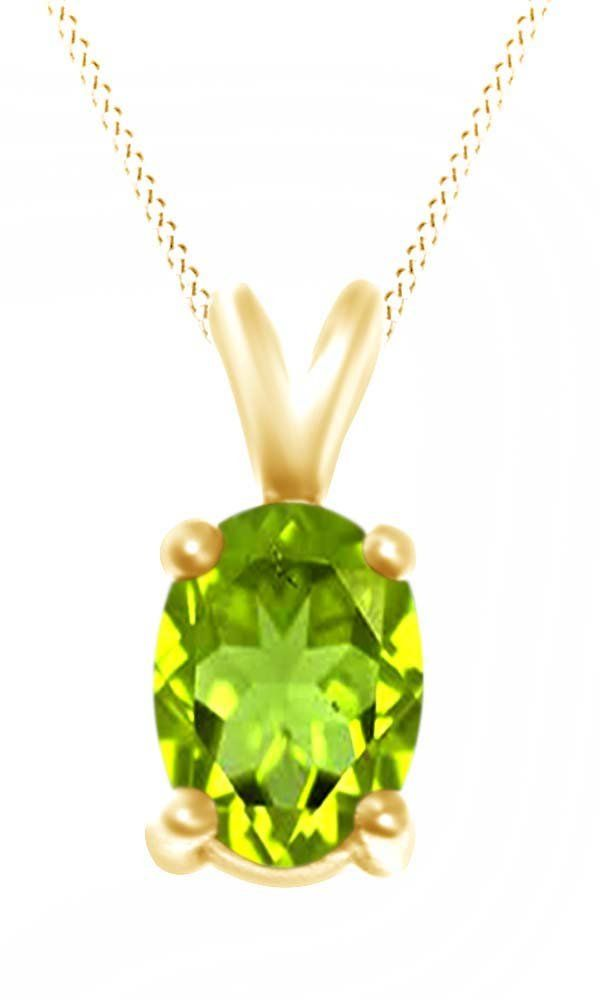 Oval Cut Solitaire Peridot August Birthstone Pendant Necklace In 10K Yellow Gold (4.5 Cttw). Adds A Touch Of Nature-Inspired Beauty To Your Look Oval Cut Solitaire Pendant Necklace In 10K Yellow Gold Makes a Standout Addition to Your Collection with 4.5 Carat August Birthstone Peridot. Gold is a dense, soft, shiny, malleable, and ductile metal, Gold is a synonym for wealth and money even though in the modern world it is neither. Perfect gift idea for Christmas, party, wedding, engagement...