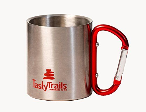 Stainless Steel Insulated Travel Mug | Double Walled Insulated Mug with Carabiner Handle | Desk Cup for Hot & Cold Drinks | Portable Travel Cup for Outdoors or Camping. 6.7 oz / 200 ML. For product & price info go to:  https://all4hiking.com/products/stainless-steel-insulated-travel-mug-double-walled-insulated-mug-with-carabiner-handle-desk-cup-for-hot-cold-drinks-portable-travel-cup-for-outdoors-or-camping-6-7-oz-200-ml/