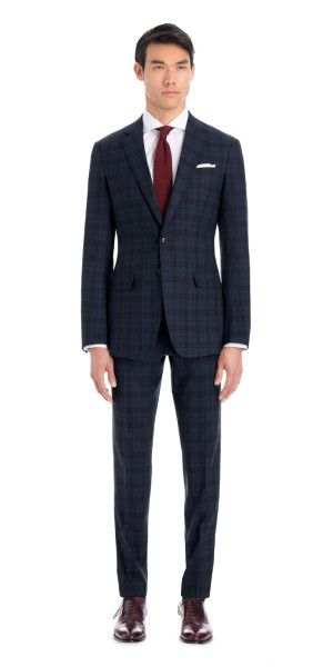 Best 25 blue check suit ideas on pinterest navy blue for Navy suit checkered shirt