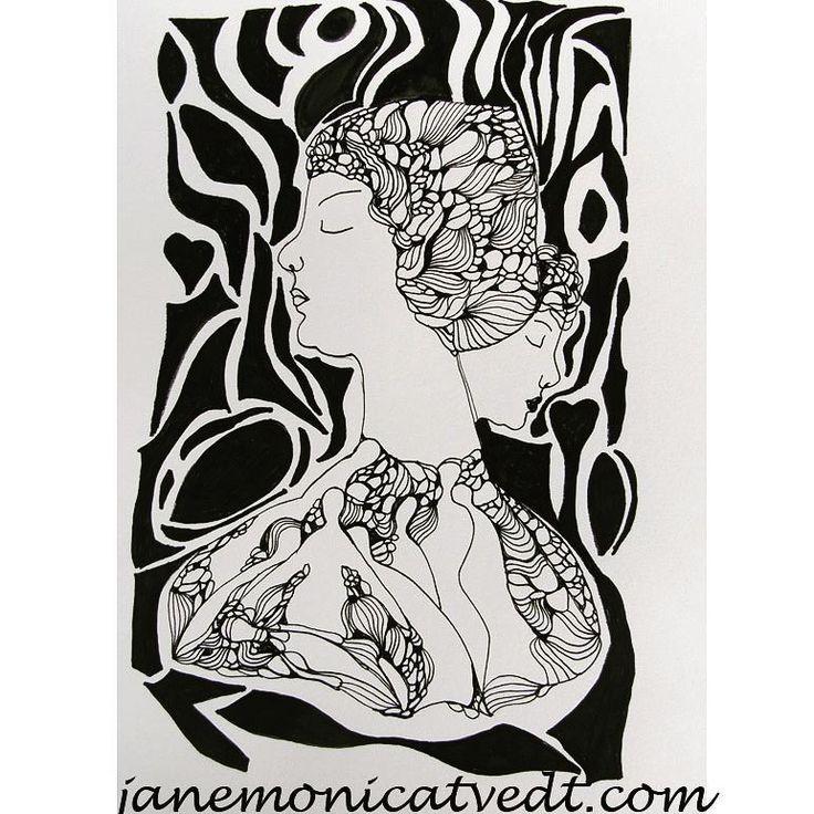 """45 likerklikk, 5 kommentarer – Jane Monica Tvedt (@empireofheart) på Instagram: """"Meditation -do not think #janemonicatvedt #drawing #figures #zen #acidfreepaper #sandnes #instart…"""""""