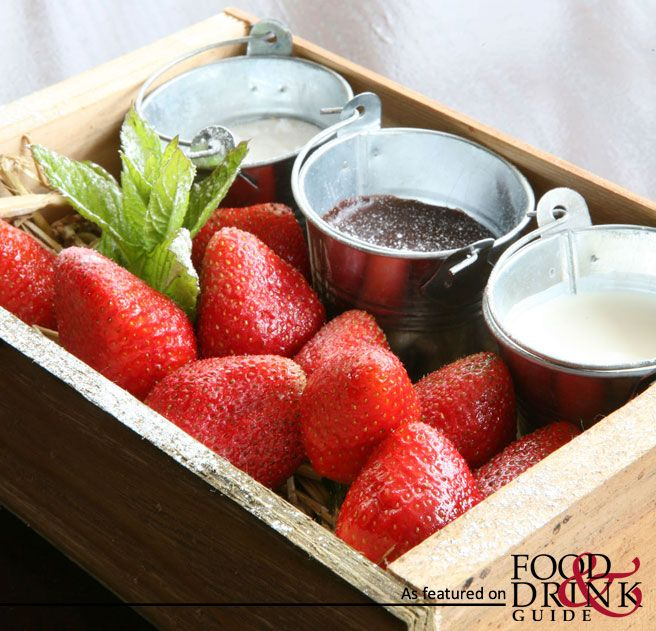 What a great idea for a summer picnic dessert - dipping strawberries ...