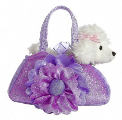 Aurora World Fancy Pals Light Up Floral Purse Pet Carrier by Aurora World. $13.60. From the Manufacturer                This adorable Fancy Pals Pet Carrier comes with an irresistable dog, has glimmery accents, and lights up when you press the middle. Aurora is internationally recognized for quality and design.                                    Product Description                Aurora is the leading supplier of affordable, high quality gift products. Since it...