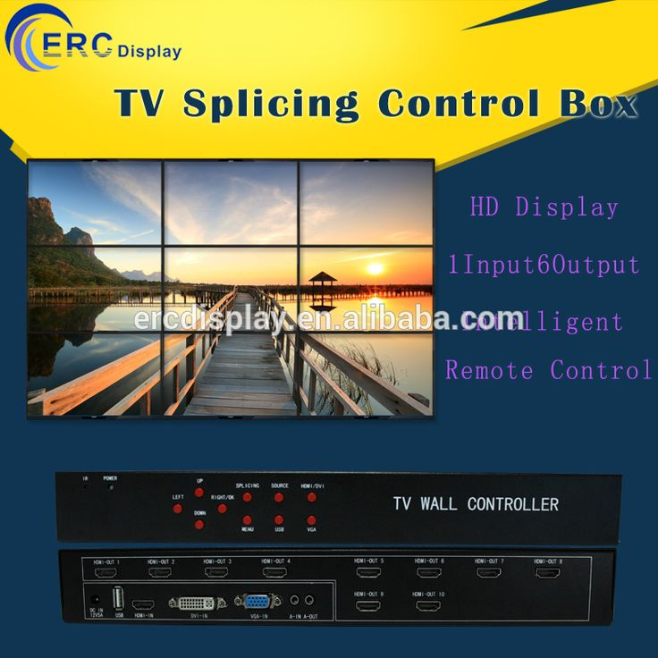 ERC Dispaly 3*3 hdmi video wall converter TV splicing controller box led video wall splicing