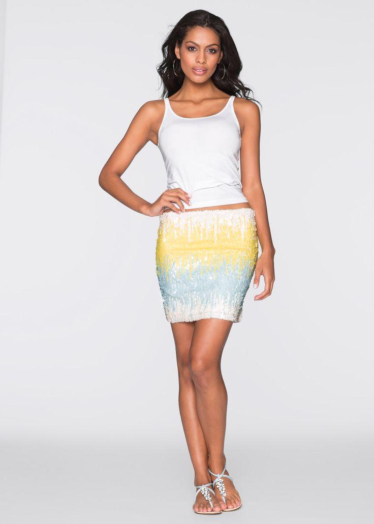 Rock gelb - BODYFLIRT boutique jetzt im Online Shop von bonprix.de ab ? 18,99 bestellen. Die farblich wunderbar aufeinander abgestimmten Pailletten setzen ...