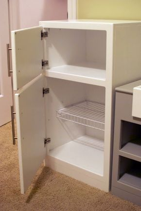 Play Fridge to go with her kitchen...would be a great bday present from Mama and Daddy