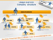 Gradient people silhouettes - company roles, jobs, positions. Can be adapted to any powerpoint style using only PPT tools
