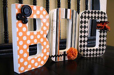 Decorated {BOO} LettersHalloween Decor, Decor Letters, Decorated Letters, Halloween Crafts, Fall Halloween, Boo Letters, Boos Letters, Decor Boos, Blank Letters