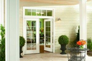 Swinging patio door entry