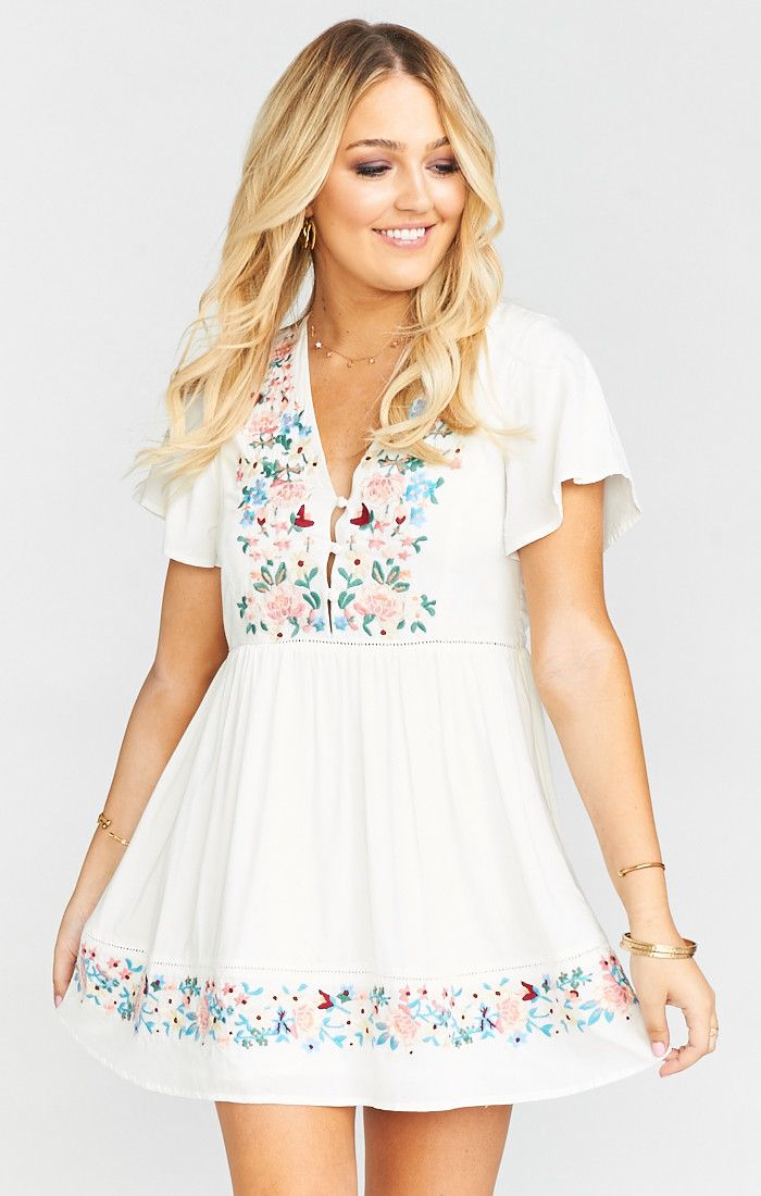 9f7581a040 Betty Babydoll Dress ~ Once Upon a Flower Embroidery   Show Me Your MuMu