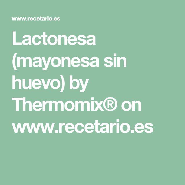 Lactonesa (mayonesa sin huevo) by Thermomix® on www.recetario.es