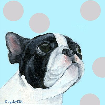 French Bulldog oilpainting