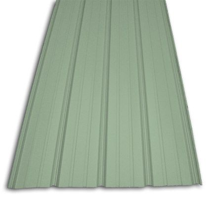 Pro Rib Patina Green Steel Panels Metal Roofing Materials