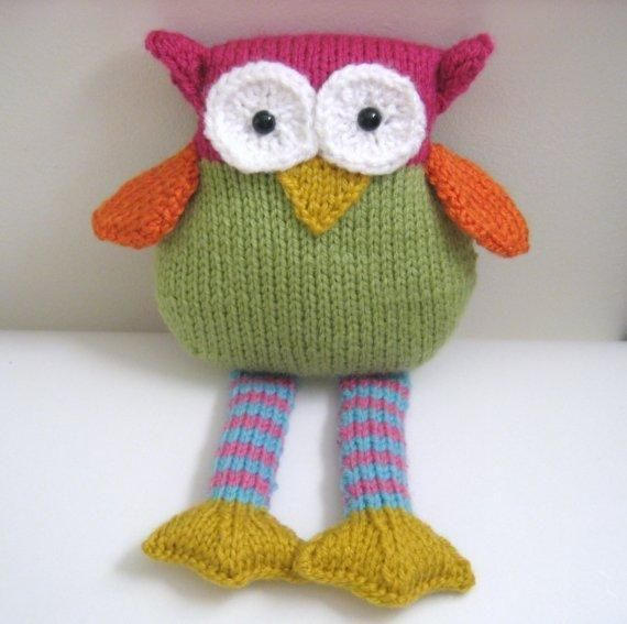 Knit Owl pattern for sale from http://www.craftsy.com/project/view/Knit-Owl-Amigurumi-Pattern/8205