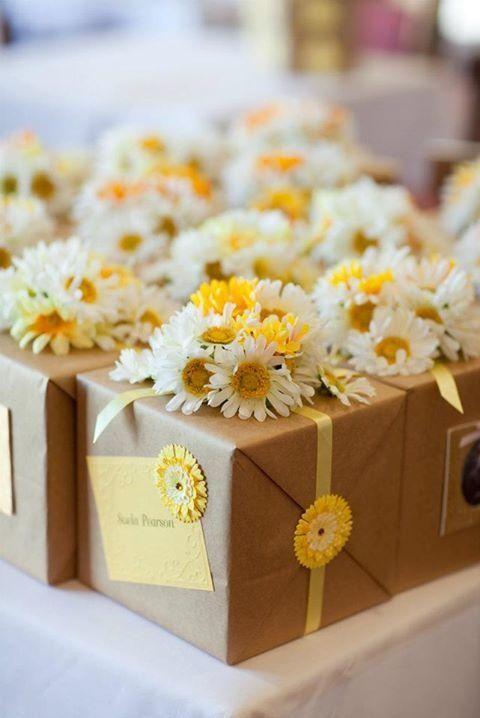 -flowers -brown paper.