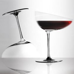 Calici Caratteriali, a series of experimental wine glasses by Gumdesign, created for the AbitaMi show in Milan.