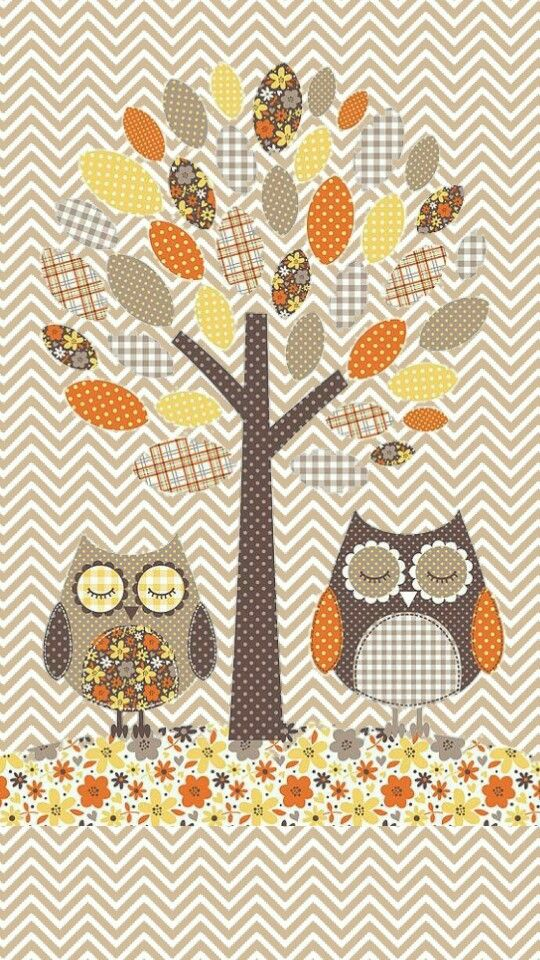 cute owl fall themed wallpapers - photo #12