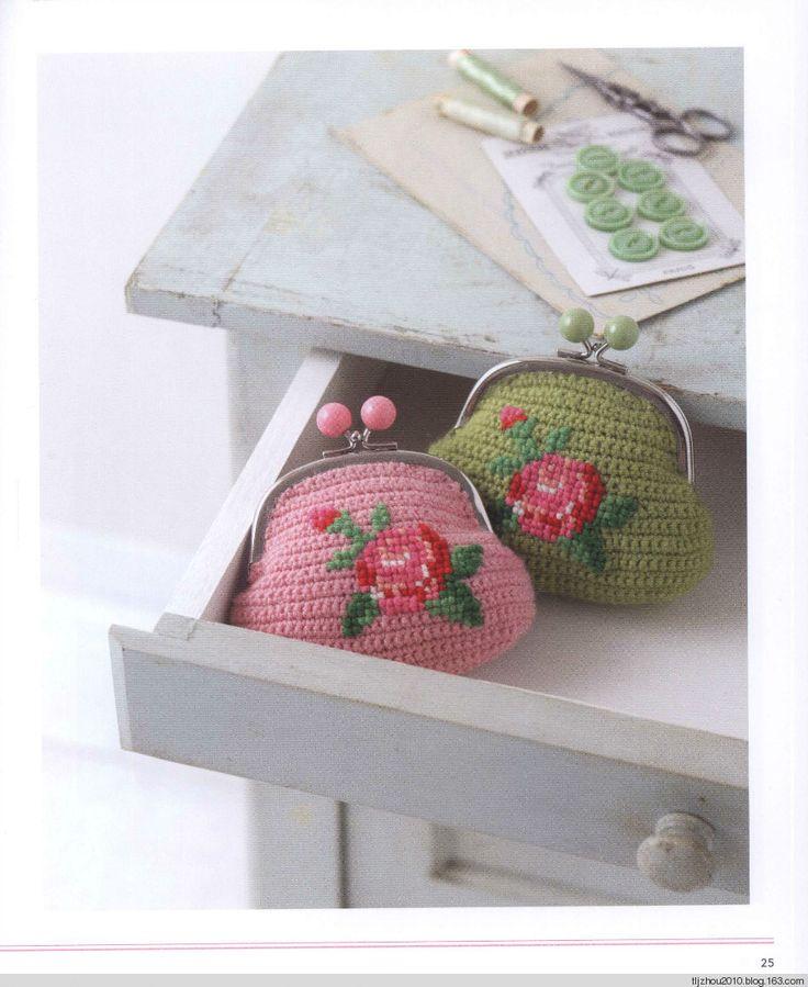Pretty Color Crochet purses