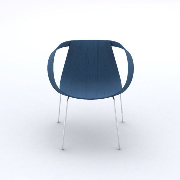 Impossible Wood blue, design Doshi Levien for Moroso.