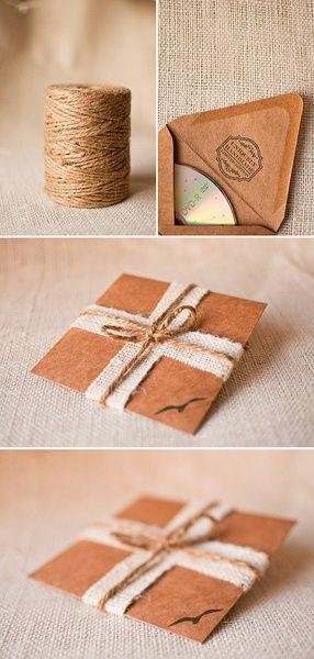 craft paper string cd case