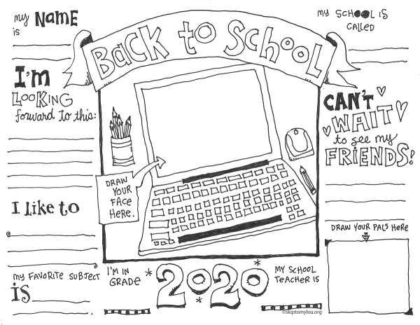 First Day Of School Coloring Pages With Virtual Options School Coloring Pages Teacher Favorite Things First Day Of School