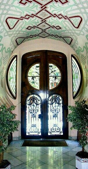 Art Nouveau door in Barcelona, Spain. - by Arnim Schulz More