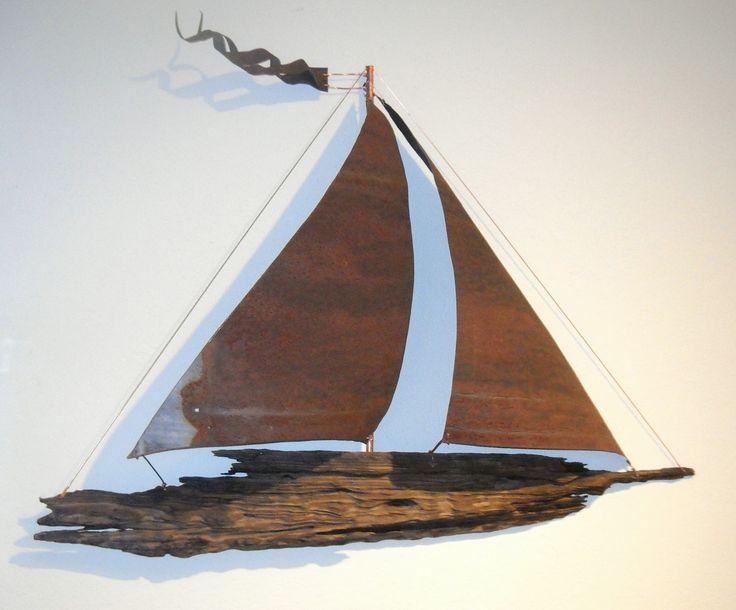 Sailboat Wall Art 94 best driftwood sailboat wall art images on pinterest | wood