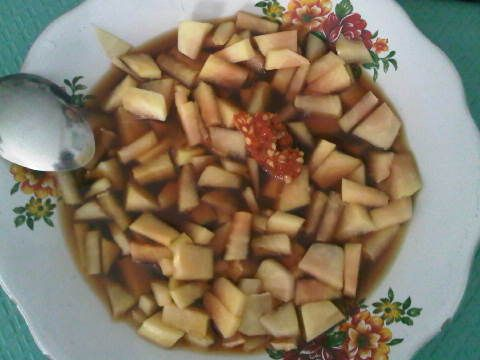 Gohu - When you come to Manado for holiday, you should try our local hot pickles.