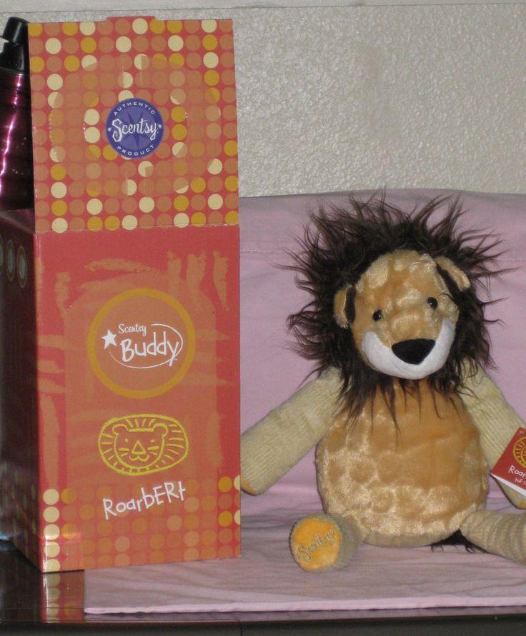"NWT Scentsy Buddy ROARBERT THE LION Plush Stuffed Animal 15"" Retired -  W/ BOX #Scentsy"