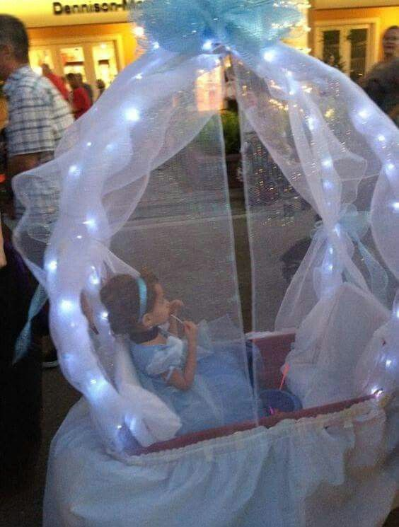 Turn a WAGON into a CINDERELLA CARRIAGE....Love this idea & it looks so easy to make! Featured on our Best Homemade Halloween Costume Ideas for Kids!  http://kitchenfunwithmy3sons.com/2015/09/37-of-best-diy-homemade-halloween.html/