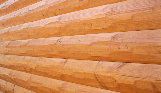 Hewn log siding surface finish fix up ideas for How to stain log cabin