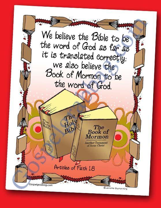 $0.75 - ARTICLE OF FAITH 1:8 - Scriptures - Book of Mormon - Bible