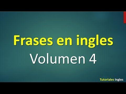 Lista de frases básicas en inglés principiantes. - YouTube