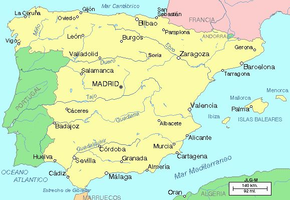 Ríos de España. Geografía de España. Geografía para niños.
