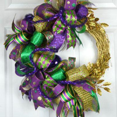 Mardi Gras Ellenmore wreath