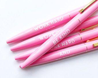 Hard werken en zijn vriendelijke pennen - licht roze, Set van 5 / / kous kleinigheidjes / / vakantie geschenken