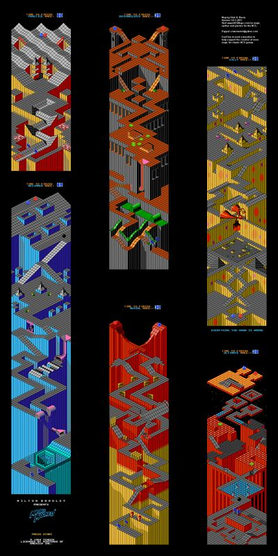 """Marble Madness Poster Map 12"""" x 24"""" for the Nintendo (NES)"""